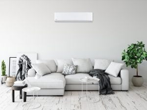 A Panasonic unit installed in a modern lounge