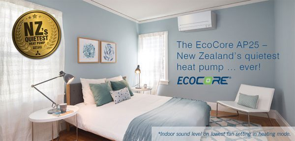A bedroom with ecocore installed in it