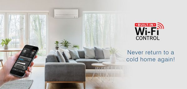Never return to a cold home again wifi controlled heat pump