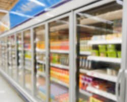 Commercial refrigeration full of products